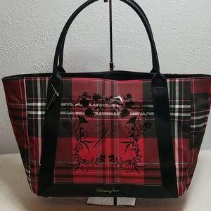Victoria Secret Tote Bag Leather Accents